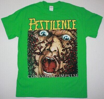 Pestilence Consuming Impulse DEATH METAL bénédiction New Green T-Shirt