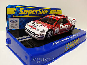SCX-Scalextric-Slot-SuperSlot-H3637-Ford-RS200-24H-Rally-D-039-Y-Pres-1986-N-5