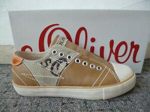 S. Oliver Slipper Sneakers Sportschuhe Halbschuhe braun NEU