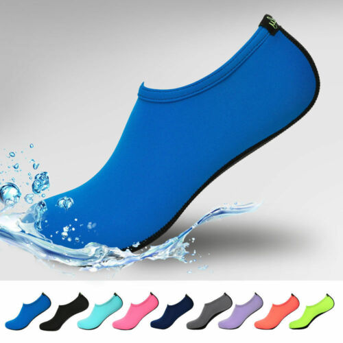 Men Womens Water Shoes Barefoot Aqua Socks Quick-Dry Beach Swim Sports Exercise.