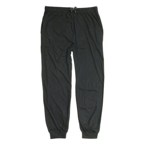 10XL Schlafhose lang mit Bündchen Herren 100/% Baumwolle in Übergrößen 2XL