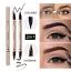 Cabeza-De-Doble-Lapicera-Lapiz-Delineador-de-Ojos-Liquido-Delineador-Maquillaje-Belleza-Negra miniatura 1