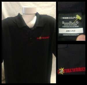 Mens-Nike-Golf-DRI-FIT-Black-Embroidered-Polo-Shirt-Size-XL-NWOT