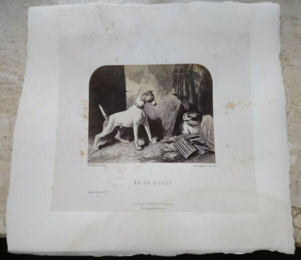 $ 800 Foto Stampa Mus Goupil & Cie Chiens Nobles Riche & Pauvre Cani Nobili Avere Una Lunga Posizione Storica
