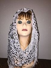 Lailly Long Scarf Hijab Wrap Sheer very pretty and fashionable W/tassels Last1's