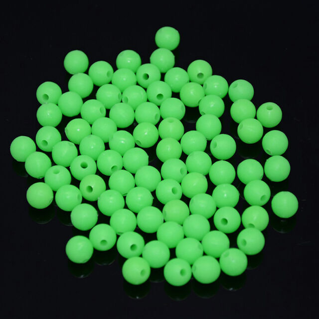 100//200pcs 5mm Round Soft Glow Rig Beads Fishing Lure Float Floating D2Q0 T M7N4