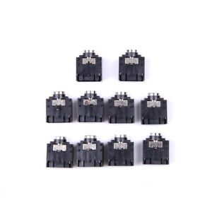 New-10-Pcs-3-Pin-PCB-Mount-Female-3-5mm-Stereo-Jack-Socket-Connector-new