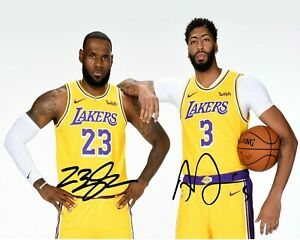 Lebron-James-Anthony-Davis-AD-LA-Lakers-Photo-Print-8x10-auto-Signed-Reprint
