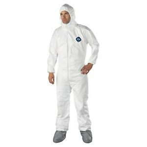 Details about DuPont TY122S-L Disposable Elastic Tyvek Coverall Suits,  Large, 25-Pack