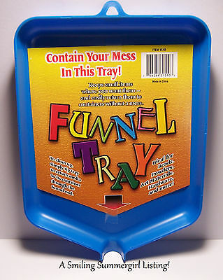 Funnel Tray Handy Craft Tool - Return Beads, Glitter, Powders to jars containers
