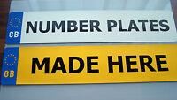NUMBER PLATES 1 SET GB BADGE PLATES (SAME REGISTRATION NUMBER)  FREE FIXING PACK