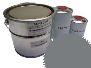 3 Liter Set 2K Floor Color Floor Ral 7037 Vinyl-Epoxid-Lack Lackpoint Shine
