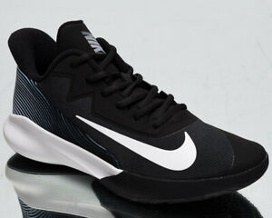 Nike-Precision-IV-4-Men-039-s-Black-White-Low-Basketball-Sneakers-Athletic-Shoes