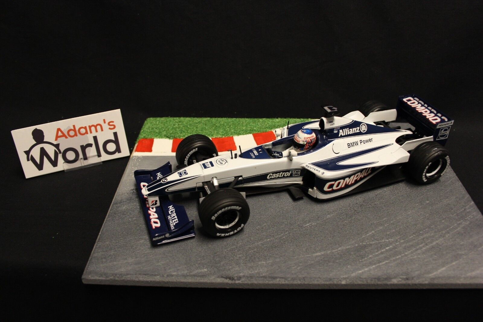Hot Wheels Williams BMW FW22 2000 1 18 Jenson Button (GBR) (F1NB)