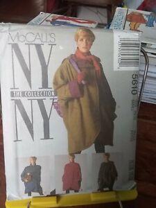 Oop-Mccalls-NY-Collection-5610-misses-raincoat-jacket-belt-scarf-sz-10-12-NEW