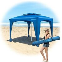 Large Outdoor Tents Shelters Uv Resistant Polyester Fabric Portable Beach Sport