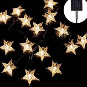 20 Star LED Solar Powered Outdoor String Lights Waterproof for Garden Party Xmas