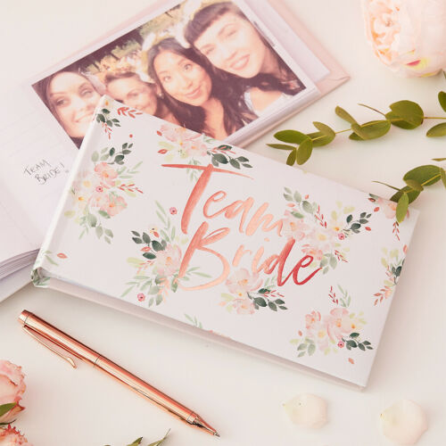 "Fotoalbum Team Bride /""Floral Hen/"" Fotobuch Geschenk Junggesellenabschied"
