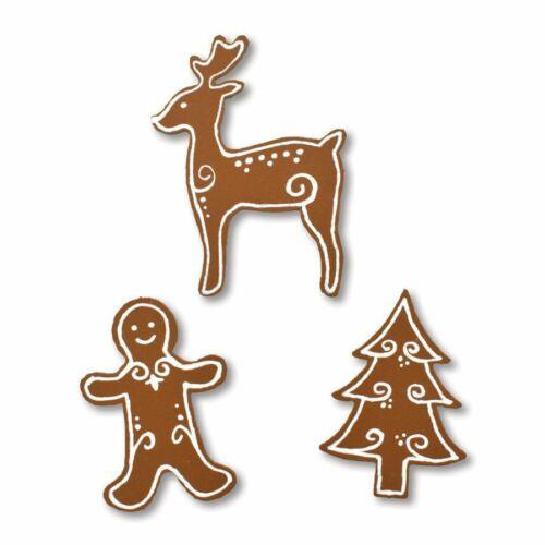 Roeda Brighten Life 3 Magnets Christmas Gingerbread Man Cookie Reindeer Tree US