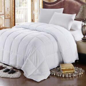 Luxury-All-Season-Oversize-White-Goose-Feather-Down-Comforter-300tc-100-Cotton