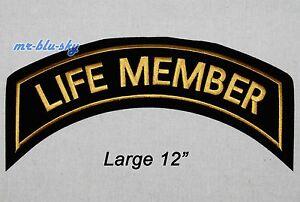 Large life member gold patch harley davidson owners group hog h o g