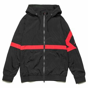 c6efc03cf10f61 NEW Nike Men Air Jordan Diamond Track Jacket Bred Black Red AQ2683 ...