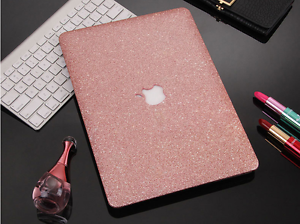 For Macbook New Pro Air 11 12 13 15 Bling Shiny Glitter Hard Cut-out Case Cover