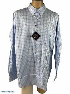 Men/'s Long Sleeve Cotton Slub Button~Down Shirt Goodfellow /& Co Blue  SM /& XXL