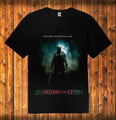FRIDAY THE 13TH MOVIE POSTER Adult Dickies Work Shirt All Sizes