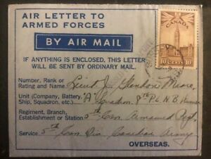 1943 Sussex NB Canada Armed Forces Air Letter Cover