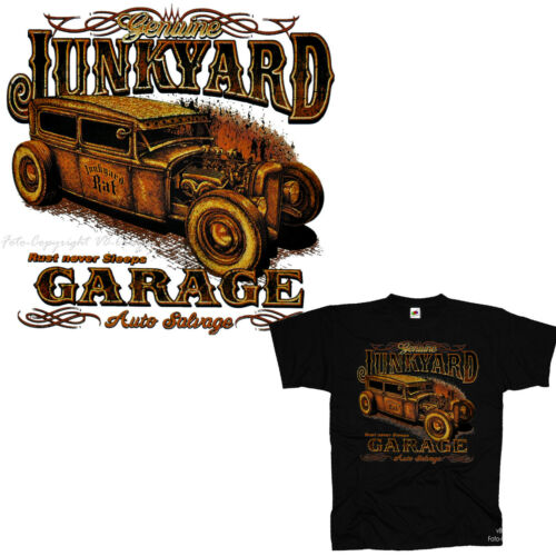 Hot Rod T-Shirt Oldtimer Auto Werkstatt Garage OldSchool Rockabilly *1275 bl