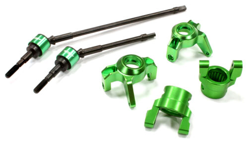 Caster Block /& Front Shaft Set for Axial 1//10 Wraith C25342GREEN Alloy Steering