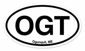 "Maine ME White State Oval car window bumper sticker decal 5/"" x 3/"""
