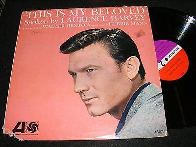 Oddball Beatnik LP Classic THIS IS MY BELOVED Laurence Harvey HERBIE MANN 1962