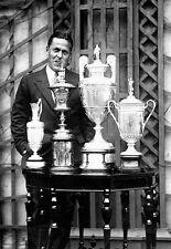 Golfer Bobby Jones Trophys all 4 Majors Golf Poster Print