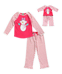 8f34f44fbd Dollie Me Girl 4-14 and Doll Matching Snowman Pajama Set Outfit ft ...