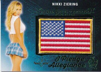 Non-sport Trading Cards Nikki Ziering 2018 Benchwarmer Pledge Allegiance Flag Patch Green Foil Sp 2/3 Benchwarmer