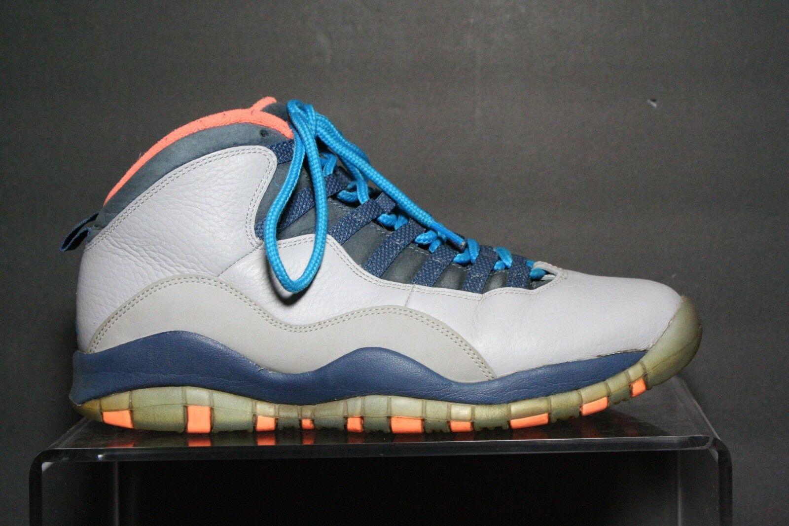 Nike Air Jordan 10 Retro Charlotte Bobcats 13' Sneakers Multi Athletic Men's 9.5