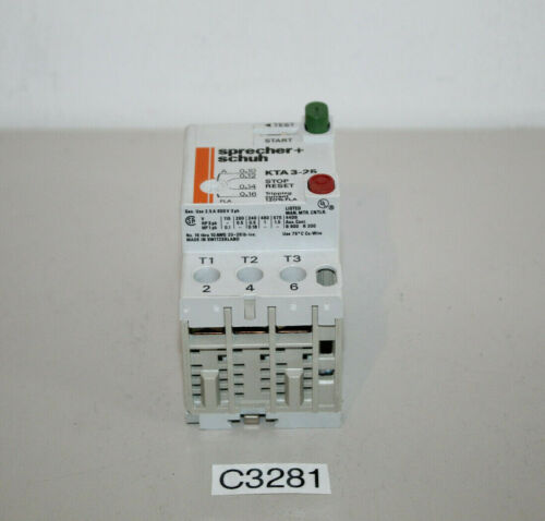c3281-r45 schuh kta3-25 interruptor de potencia Sprecher