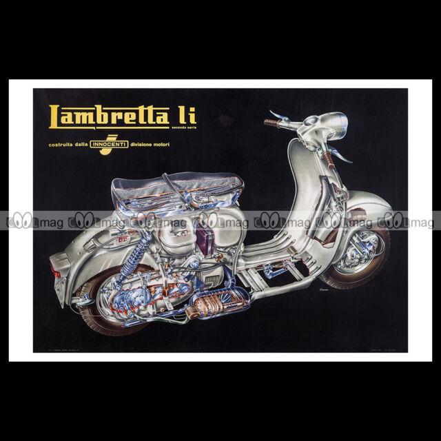 #phpb.001121 Photo LAMBRETTA LI INNOCENTI SCOOTER 1959 A4 Poster reprint