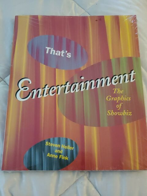 That's Entertainment : The Graphics of Showbiz by Heller and Fink NEW