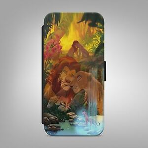 LION-KING-LOVE-STORY-LEATHER-FLIP-WALLET-PHONE-CASE-COVER-FOR-IPHONE-AND-SAMSUNG