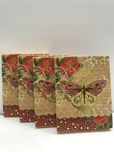 4-Punch-Studio-Mini-Pocket-Note-Pads-59662-Pink-Butterflies-Discontinued