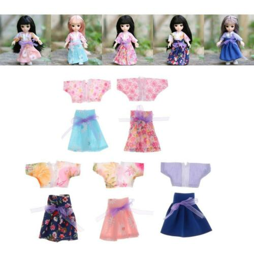 Handgemachte 16cm Mädchen Puppenkleider Kleid Kleidung Set für 1//12 BJD