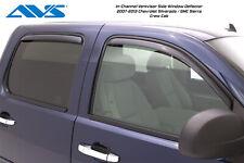 07-13 GMC Sierra 1500 Crew Cab AVS Chrome Window Vent Visors Rain Guards
