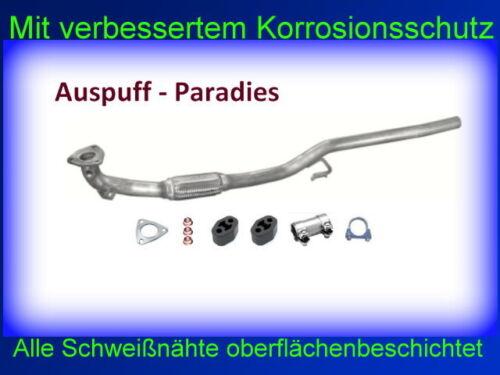 Krümmerrohr Hosenrohr Flammrohr VW Polo IV 9N 1.2 Bj.11// 2005 40KW /& 47KW Kit