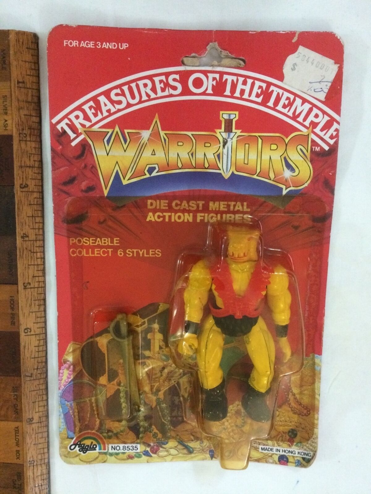 DIE-CAST TREASURES OF THE TEMPLE MOTU KO WARRIORS ACTION FIGURE AGGLO MOC  1