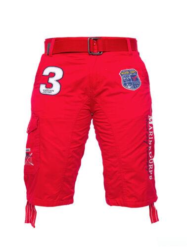 Uomo Estate Short Bermuda Pantaloni Corti Polo Pantaloncini Uomo Rosso Bianco h033 Nero