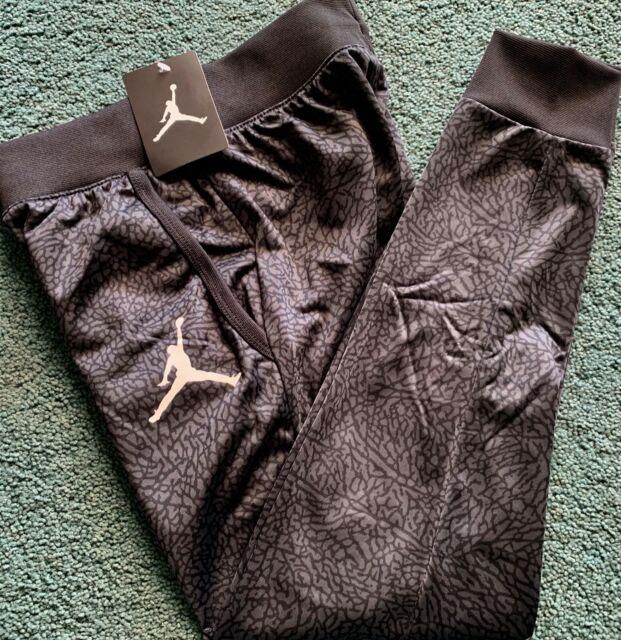 Engañoso orgánico Atravesar  Nike Air Jordan Youth Boys Jumpman Fleece Lined Jogger Sweat Pants Black  Gray M for sale online | eBay