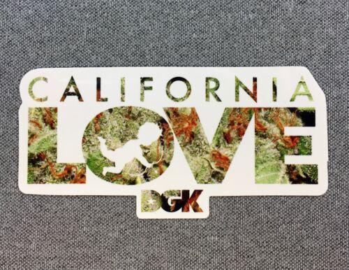 DGK CALIFORNIA LOVE Skateboard Sticker 4in si